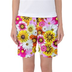 Flowers Blossom Bloom Nature Plant Women s Basketball Shorts