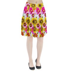 Flowers Blossom Bloom Nature Plant Pleated Skirt