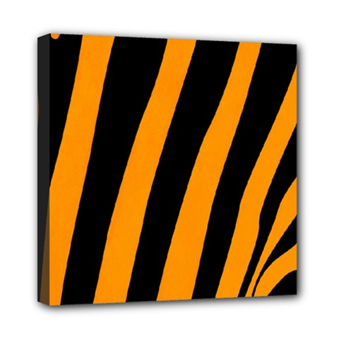 Tiger Pattern Mini Canvas 8  x 8