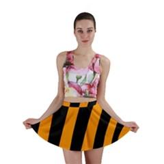 Tiger Pattern Mini Skirt