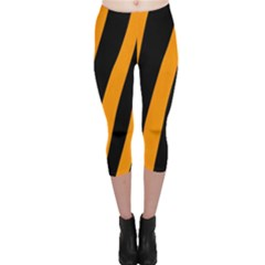 Tiger Pattern Capri Leggings