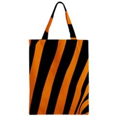 Tiger Pattern Zipper Classic Tote Bag