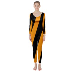 Tiger Pattern Long Sleeve Catsuit