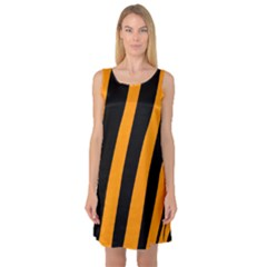 Tiger Pattern Sleeveless Satin Nightdress