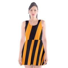 Tiger Pattern Scoop Neck Skater Dress