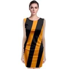 Tiger Pattern Classic Sleeveless Midi Dress