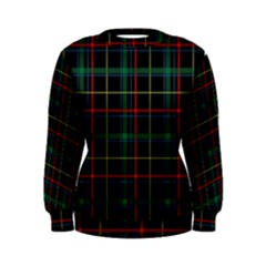 Plaid Tartan Checks Pattern Women s Sweatshirt