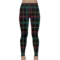 Plaid Tartan Checks Pattern Classic Yoga Leggings
