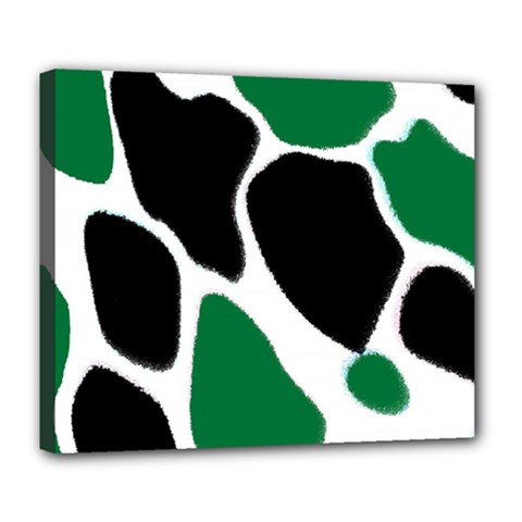 Green Black Digital Pattern Art Deluxe Canvas 24  x 20
