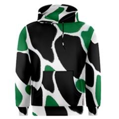 Green Black Digital Pattern Art Men s Pullover Hoodie