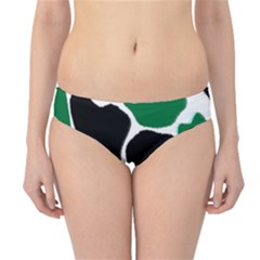 Green Black Digital Pattern Art Hipster Bikini Bottoms