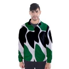 Green Black Digital Pattern Art Wind Breaker (Men)