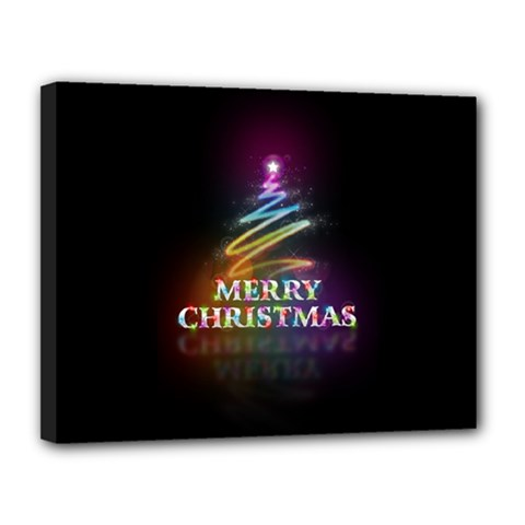 Merry Christmas Abstract Canvas 14  x 11
