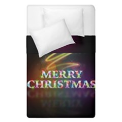 Merry Christmas Abstract Duvet Cover Double Side (single Size)