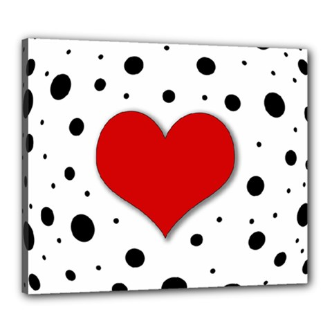 Red heart Canvas 24  x 20