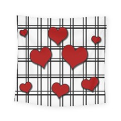 Hearts Pattern Square Tapestry (small)