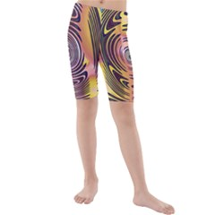 Ethnic Tribal Pattern Kids  Mid Length Swim Shorts