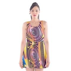 Ethnic Tribal Pattern Scoop Neck Skater Dress