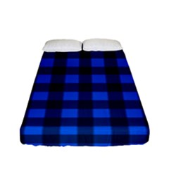 Blue And Black Plaid Pattern Fitted Sheet (full/ Double Size)