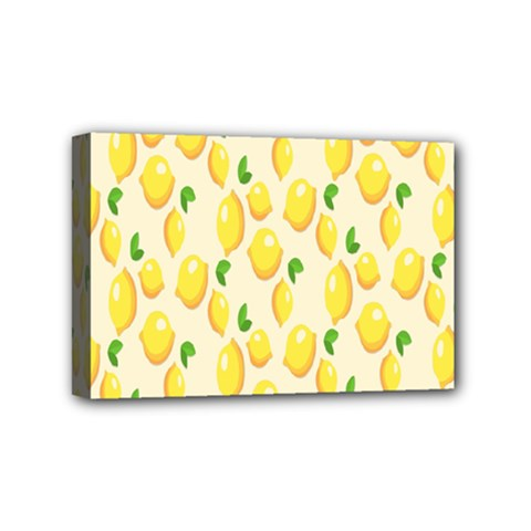 Pattern Template Lemons Yellow Mini Canvas 6  x 4
