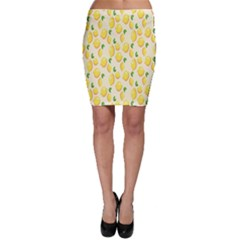 Pattern Template Lemons Yellow Bodycon Skirt