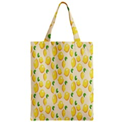 Pattern Template Lemons Yellow Zipper Classic Tote Bag