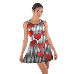 Valentines day pattern Cotton Racerback Dress