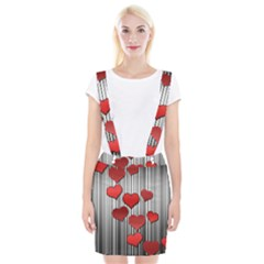 Valentines Day Pattern Suspender Skirt