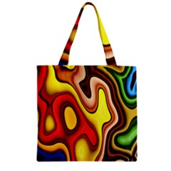 Pattern Background Structure Zipper Grocery Tote Bag