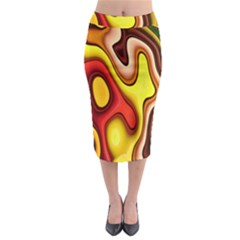 Pattern Background Structure Midi Pencil Skirt