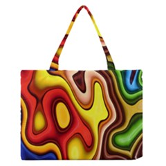 Pattern Background Structure Medium Zipper Tote Bag
