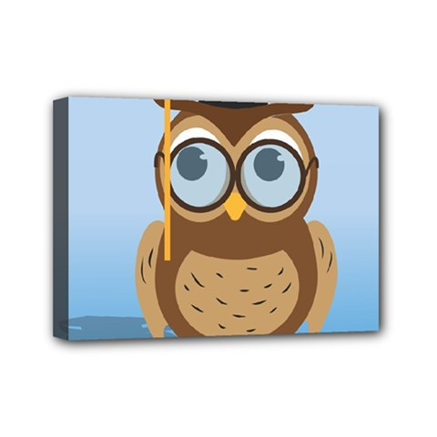 Read Owl Book Owl Glasses Read Mini Canvas 7  x 5