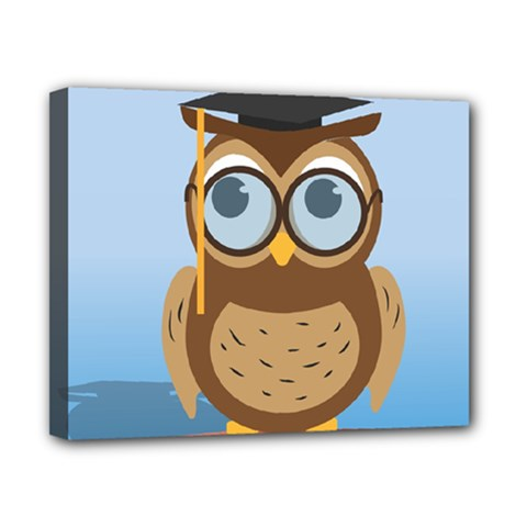 Read Owl Book Owl Glasses Read Canvas 10  x 8
