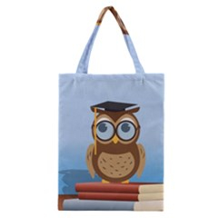 Read Owl Book Owl Glasses Read Classic Tote Bag