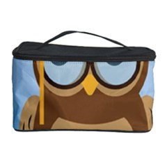 Read Owl Book Owl Glasses Read Cosmetic Storage Case