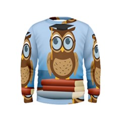 Read Owl Book Owl Glasses Read Kids  Sweatshirt