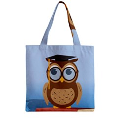 Read Owl Book Owl Glasses Read Zipper Grocery Tote Bag