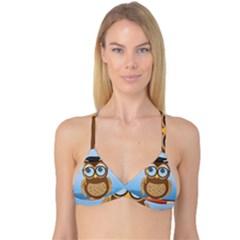 Read Owl Book Owl Glasses Read Reversible Tri Bikini Top