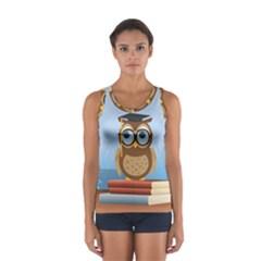 Read Owl Book Owl Glasses Read Women s Sport Tank Top
