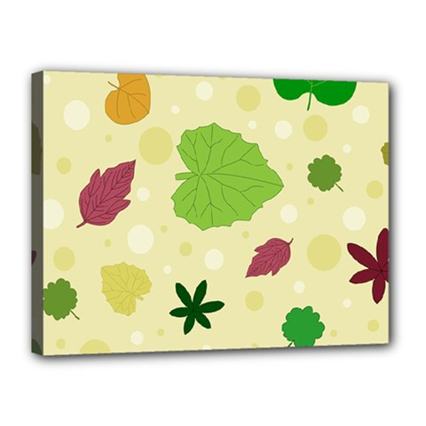 Leaves Pattern Canvas 16  x 12