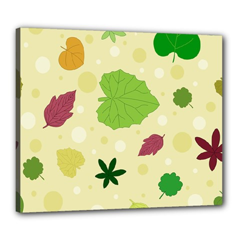 Leaves Pattern Canvas 24  x 20