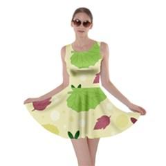 Leaves Pattern Skater Dress