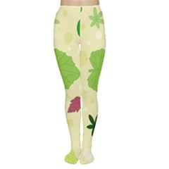 Leaves Pattern Women s Tights