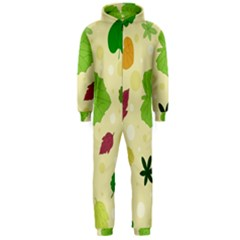 Leaves Pattern Hooded Jumpsuit (Men)