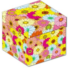 Floral Background Storage Stool 12