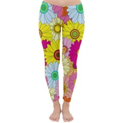 Floral Background Classic Winter Leggings