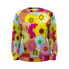 Floral Background Women s Sweatshirt
