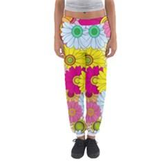 Floral Background Women s Jogger Sweatpants
