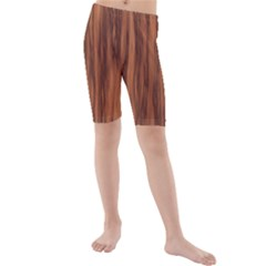 Texture Tileable Seamless Wood Kids  Mid Length Swim Shorts