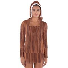 Texture Tileable Seamless Wood Women s Long Sleeve Hooded T-shirt